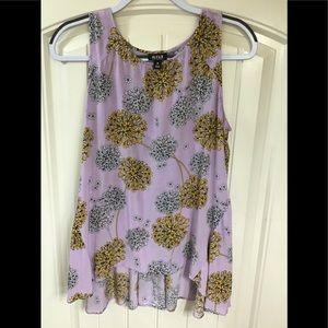 Ladies lavender long sleeveless shirt size M